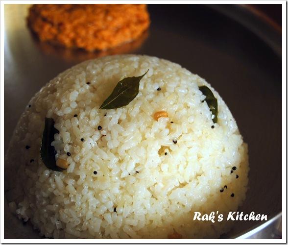 Rice upma using broken rice!