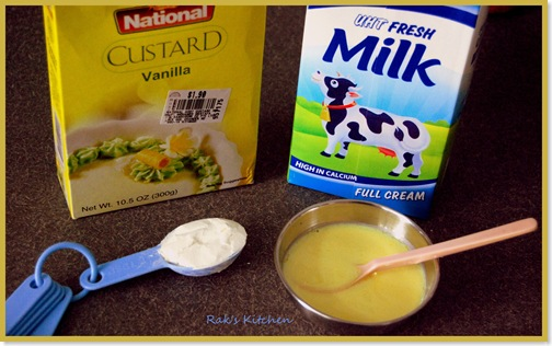 how to make custard with custard powder
