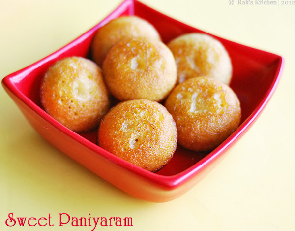 Sweet paniyaram recipe