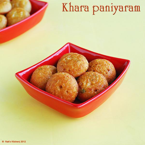 kharapaniyaramrecipe