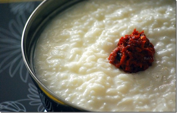 With curd rice
