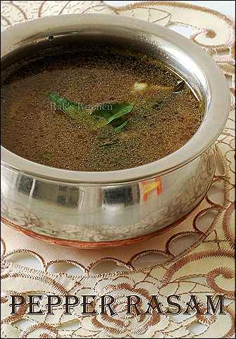 Easy Pepper rasam recipe with garlic
