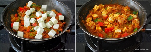 How to make kadai paneer step4