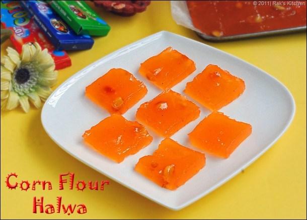 Corn flour halwa recipe