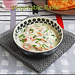Mixed vegetable Raita recipe