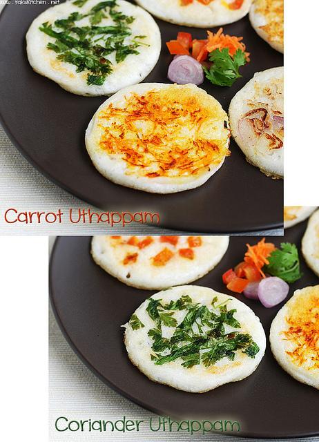 carrot+coriander-uthappam
