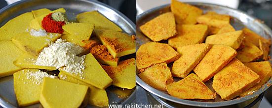yam tawa fry preparation 3