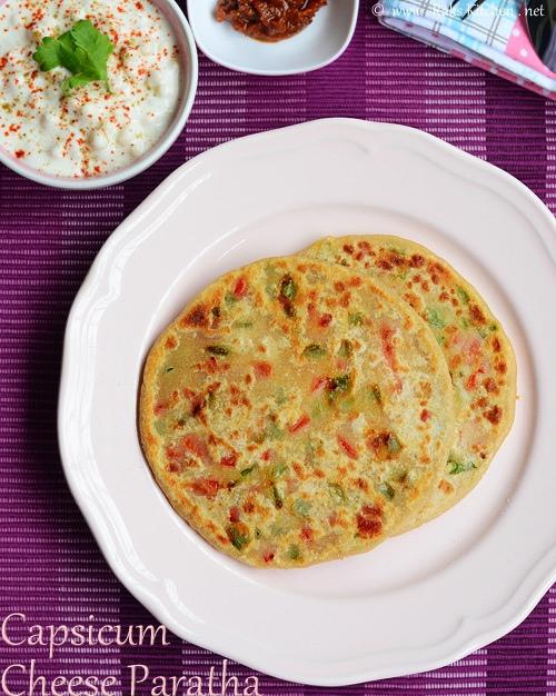 capsicum-cheese-paratha-recipe