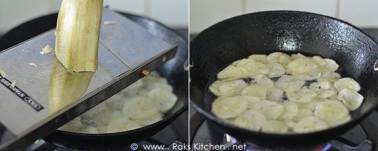 how to make vazhakkai chips 1