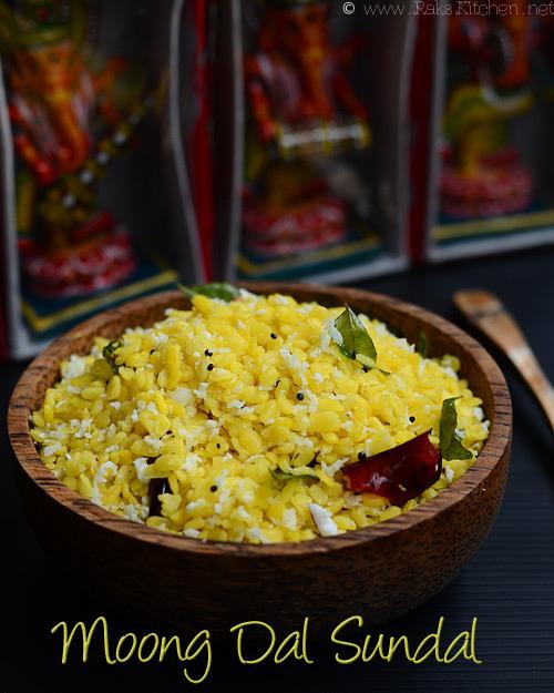 Moong-dal-sundal recipe