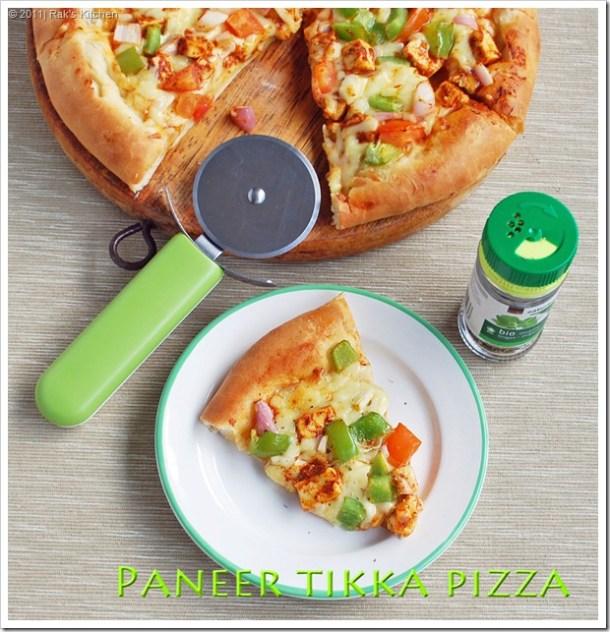 Paneer tikka pizza recipe