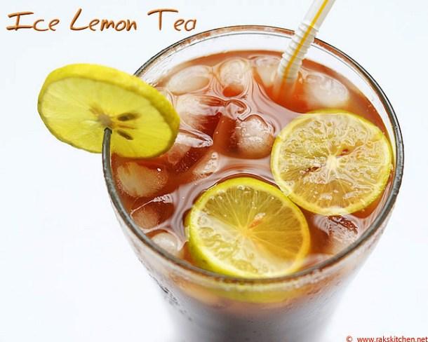 how to make ice lemon tea