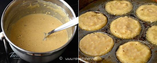 Thinai sweet paniyaram step 3