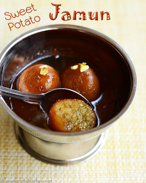 Sweet potato jamoon