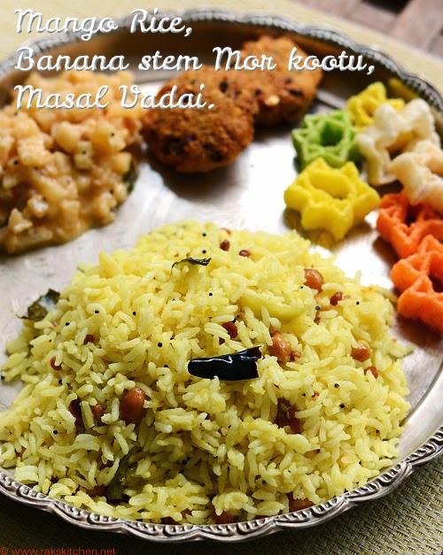 Easy South Indian lunch menu idea