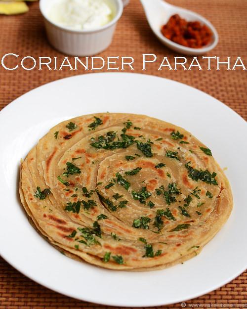 coriander-paratha