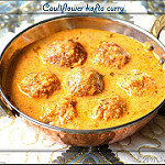 cauliflower kofta curry