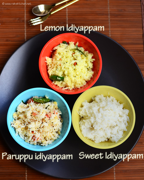 Idiyappam varieties