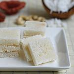Coconut burfi recipe
