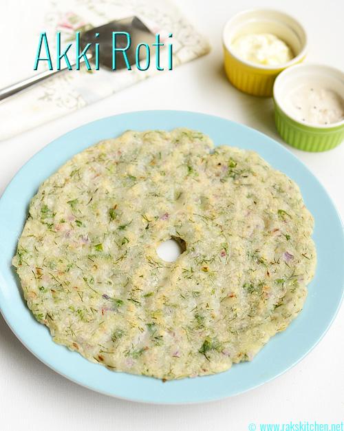 Akki roti recipe
