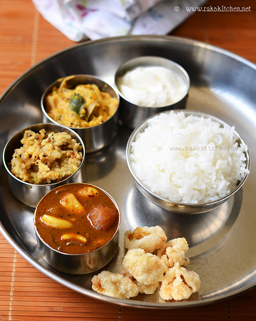 Lunch menu 59 - South Indian