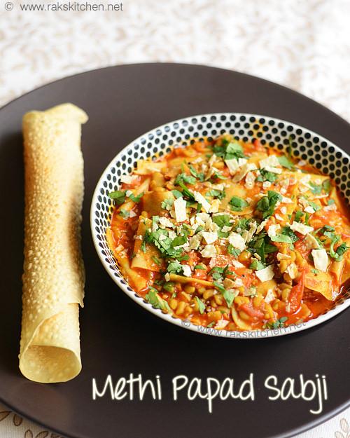 methi-papad-ki-sabji-recipe