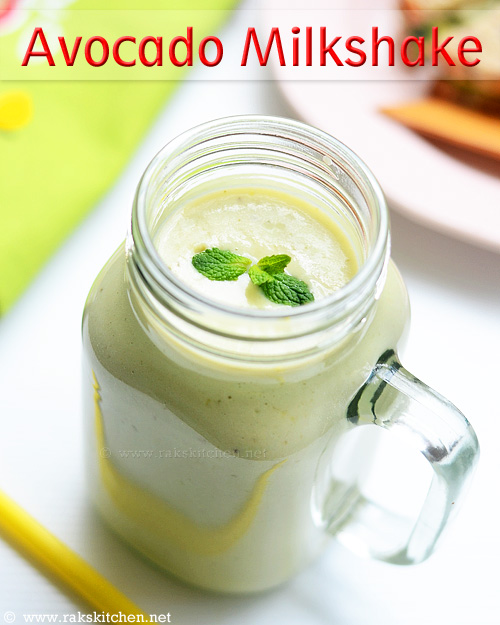 avocado banana milkshake