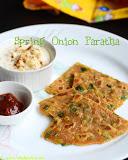 Spring onion paratha recipe