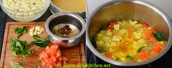 How to make cauliflower rasam 2