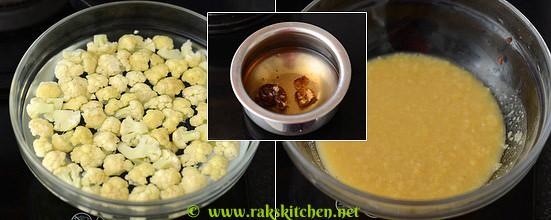 How to make cauliflower rasam 1