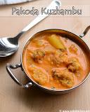 Pakoda kuzhambu recipe