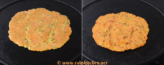 Zucchini carrot paratha preparation 4