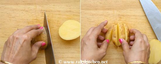 Potato wedges making 2