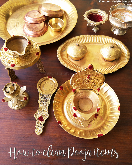 Cleaning brass pooja items, vilakku - Raks Kitchen