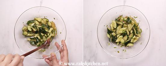 Receita de salada de pepino esmagado - Cozinha Raks 11