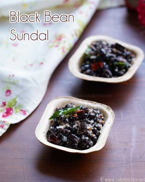 Black bean sundal recipe