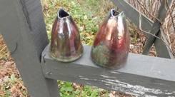 Broken Raku Pottery Vases