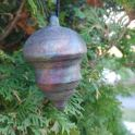 Raku Christmas Ornament