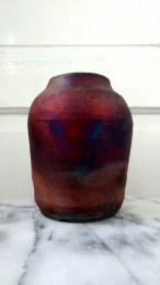 Raku Pottery Vase
