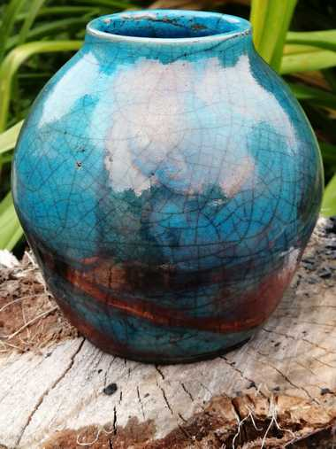 Amaterasu - Raku Pottery Vase