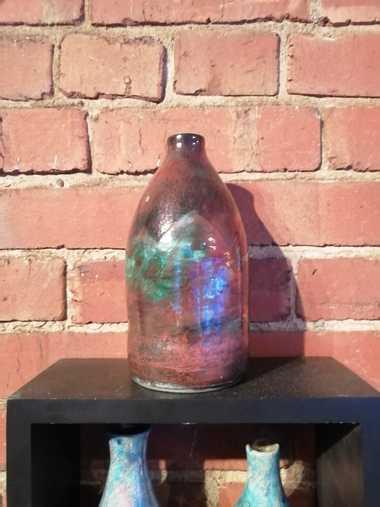 Raku Pottery Vase - Shangri-la