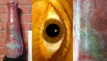 "Raku Pottery Vase - ""They Eye of Balor'"
