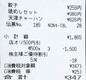 餃子の王将201901-3