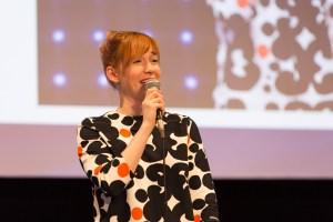 Linda Liukas onstage at NEST 2016