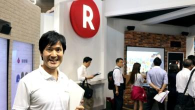 """Sanjo Masahiro of the Rakuten Institute of Technology (RIT), in front of the """"Kitemiroom"""""""