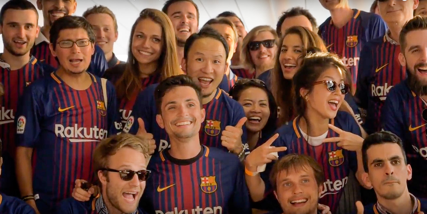 From London to Moscow, Barcelona to Berlin, Rakuten employees across Europe came together this past summer to celebrate the Rakuten's exciting new partnership with FC Barcelona.