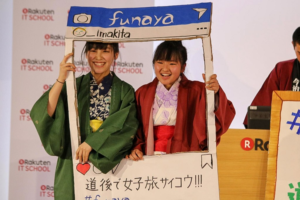 The Ehime Prefectural Imabarikita High School demonstrated not only how to promote a hotel on Instagram...