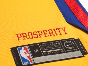 Golden State Warriors x Nike NBA City Edition Chinese Heritage Jerseys - NBA logo - prosperity