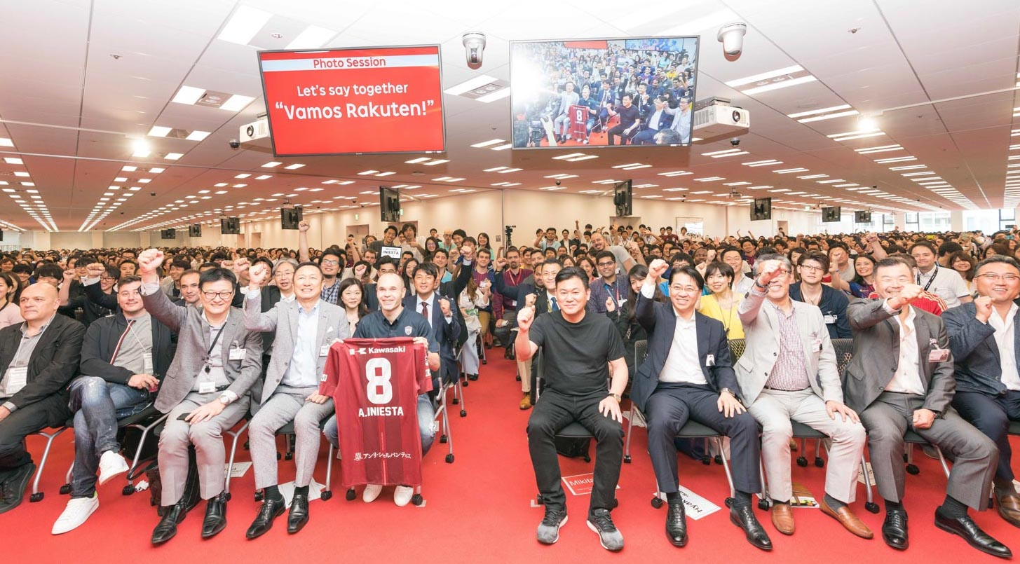 Hours after arriving in Tokyo to announce his landmark signing to Rakuten-owned, Vissel Kobe FC, Iniesta was already wowing the crowds.
