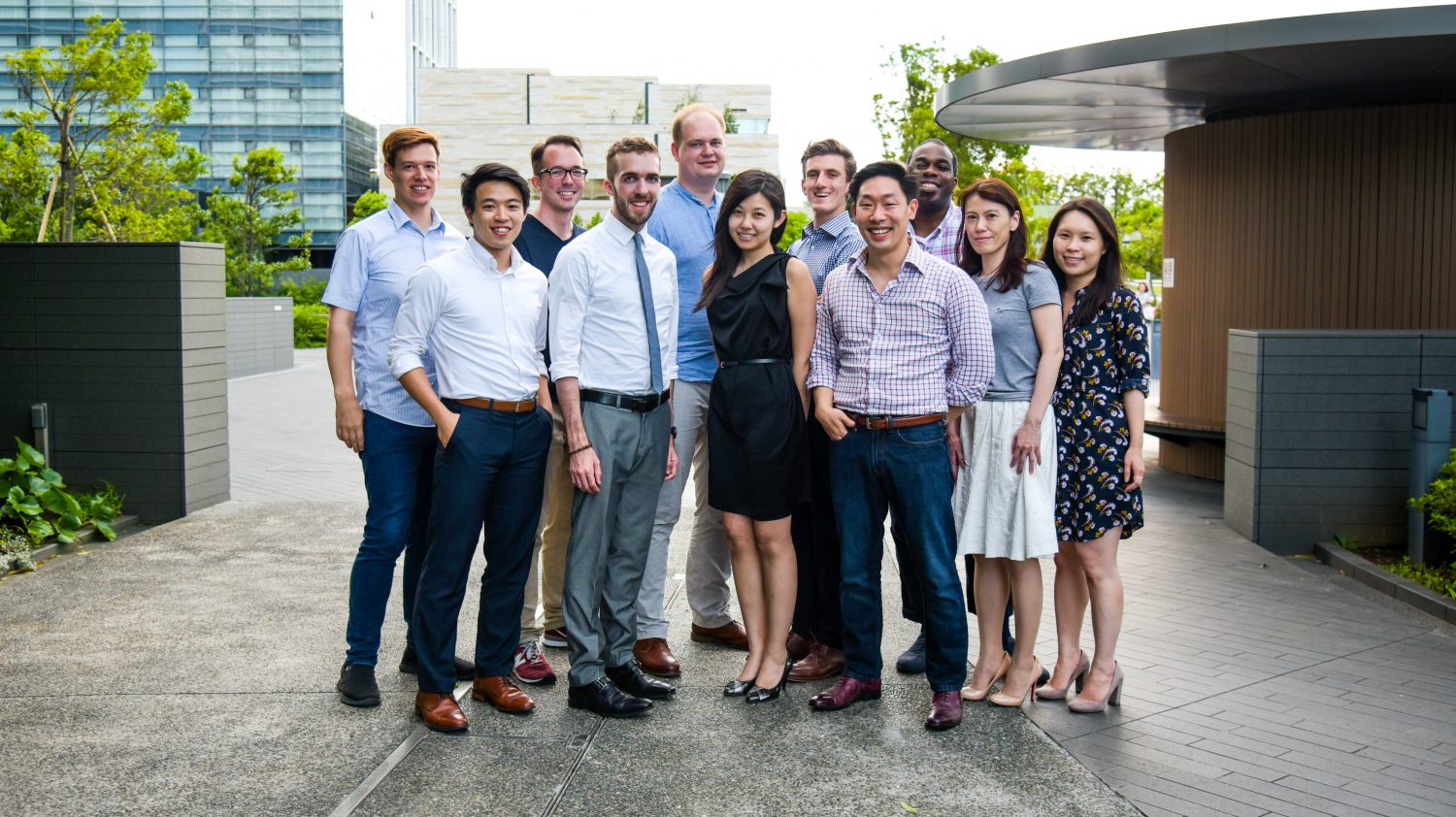The new Rakuten Rapid API team. From left to right: Marc Gatley, Rintaro Kido, Marcus Saw, Alex Walling, Andrey Bukati, Lin Chen, Iddo Ding, Jed Ng, Caven Mitchell, Kanae Tanabe, Donna Yu